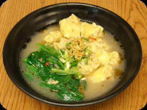 Asian Wonton Egg Noodle Soup