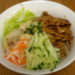 Bun- Vermicelli Rice Noodles with Spring Roll in Sauce